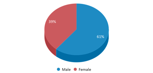 This chart display gender of Be.tech