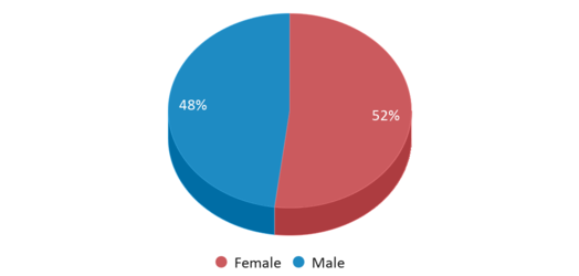 This chart display gender of Mary Daly Elementary School