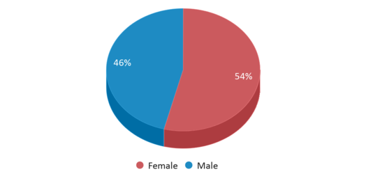 This chart display gender of Fruitvale Middle School