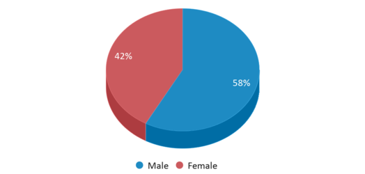 This chart display gender of Cora Kelly Magnet Elementary School