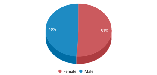 This chart display gender of Linville-edom Elementary School