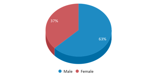 This chart display gender of Seagull Academy