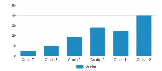This chart display the students of Wauwatosa Virtual Academy by grade.