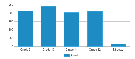 This chart display the students of South Dearborn High School by grade.