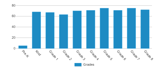 This chart display the students of Madrona Nongraded by grade.