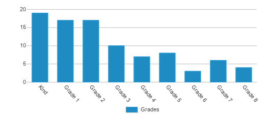 This chart display the students of Excalibur Charter School-camelot by grade.